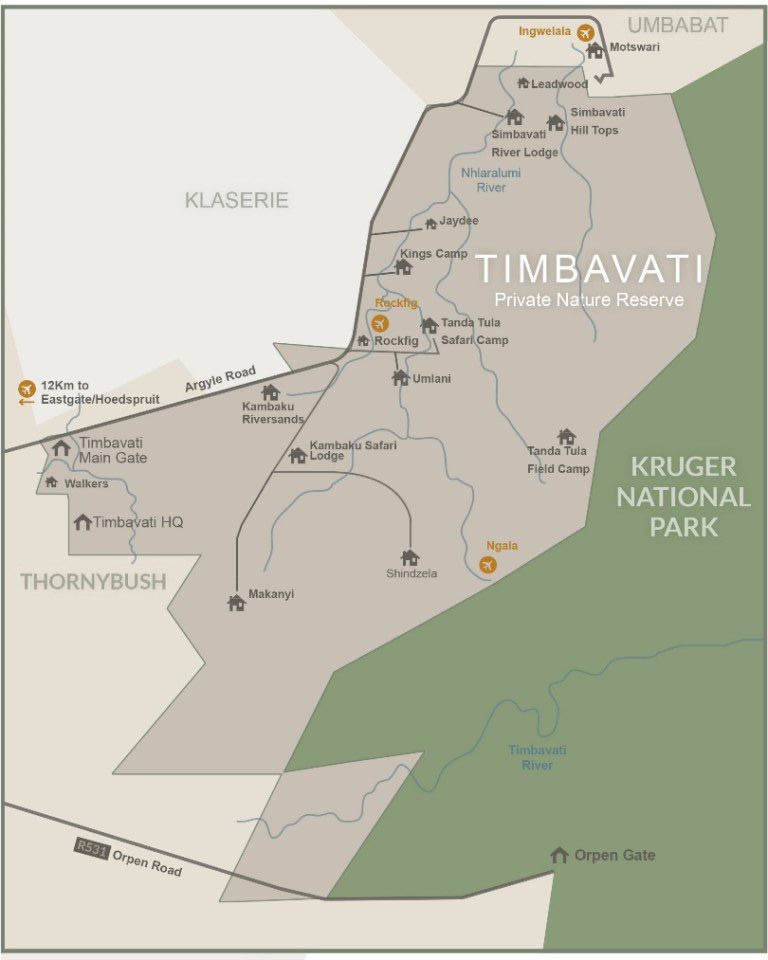 Timbavati Map